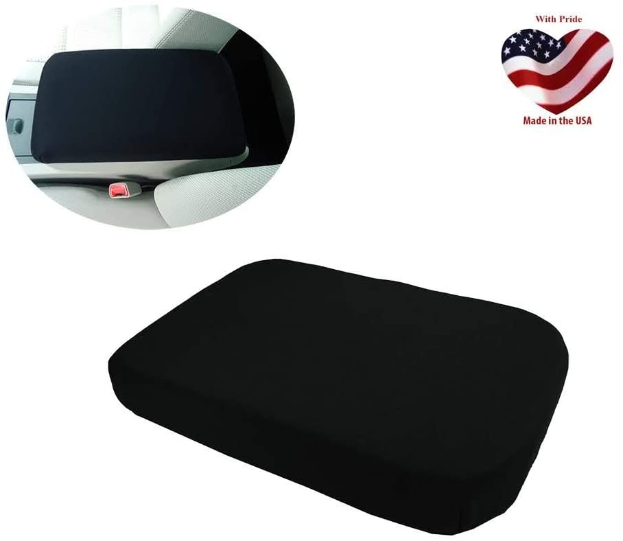 Car Console Covers Plus Made in USA fits Nissan Pathfinder 2005-2010 Neoprene Center Armrest Cover for Center Console Lid Black