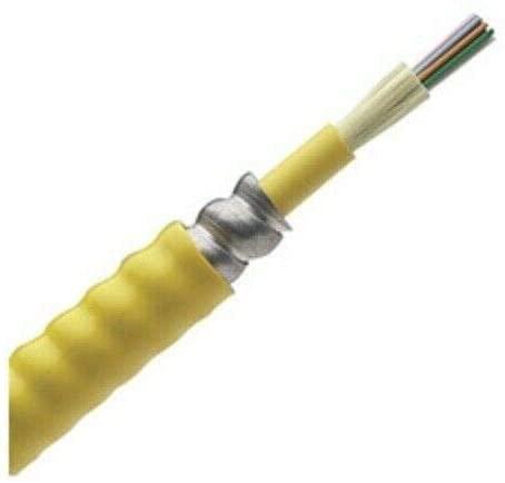 FSPP924Y 24-Fiber Count OS1 Plenum Opti-Core Fiber Optic Indoor Interlocking Armored Cable (50FT)