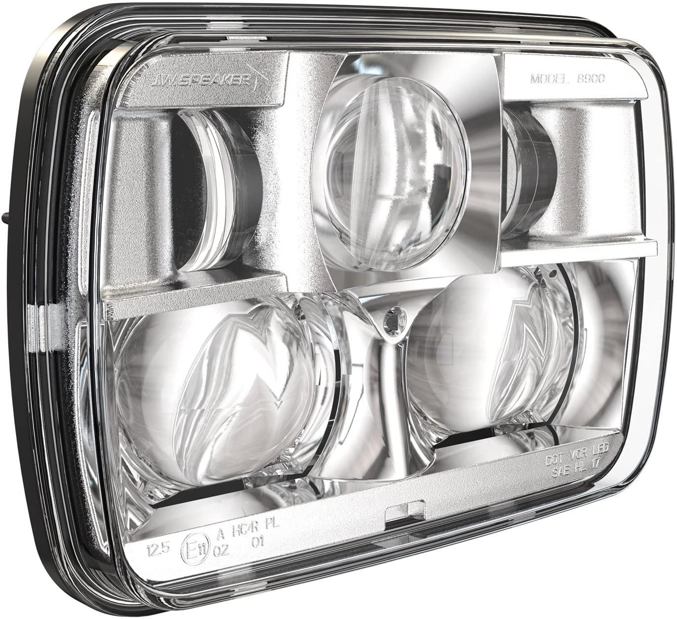 12-24V DOT/ECE LED RHT High & Low Beam Headlight with Chrome Inner Bezel
