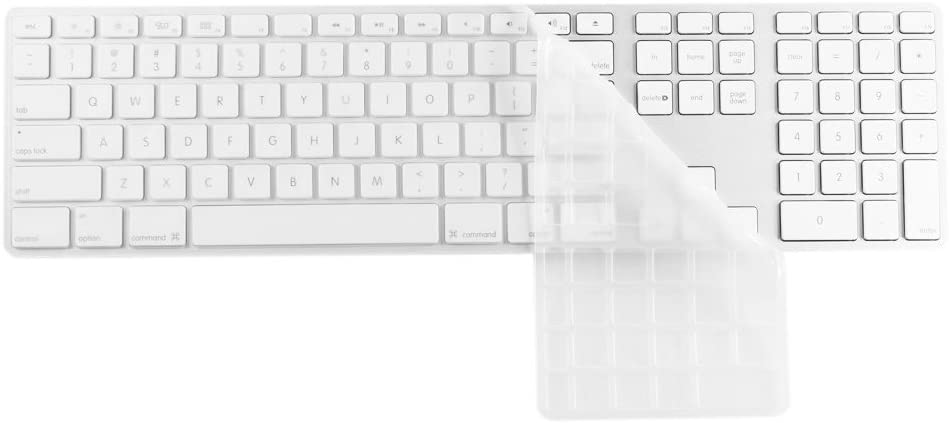 Clear Ultra Thin Keyboard Protector Cover Skin for Apple Aluminium Wired Keyboard with Numeric Keypad for USB (MB110LL/B, MB110LL/A) U.S Version (Transparent) (Transparent)