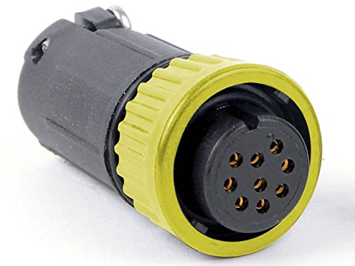 Conxall 3282-6Sg-324Cc5 Multi-Con-X, Yellow Coupling Straight Cable Plug 6 Socket - Solder Contacts