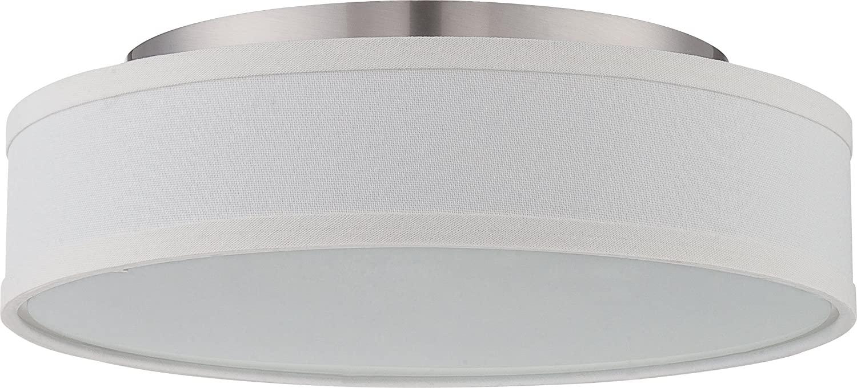 Nuvo Lighting 62/524 LED Flush Mount, Unknown, Pwt, Nckl, B/S, Slvr