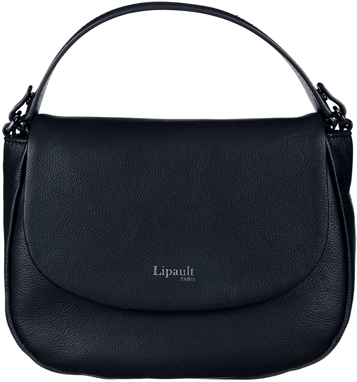 Lipault - Plume Elegance Saddle Bag - Chain Strap Shoulder Top Handle Handbag for Women - Navy
