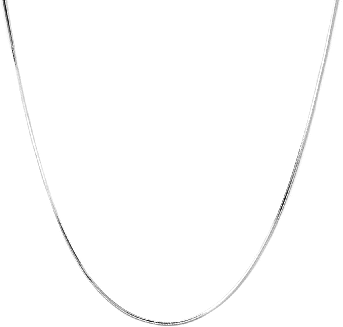 Pori Jewelers 925 Sterling Silver 1MM Magic 8 Sided Italian Snake Chain - for Women - Made in Italy