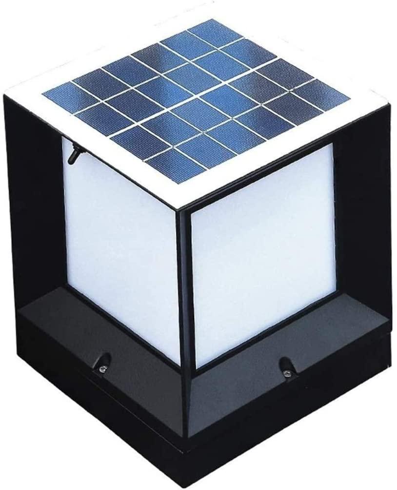 XMMDD Solar Column Headlights, Outdoor Simple and Modern Home Gate Pillar Waterproof Garden Lights