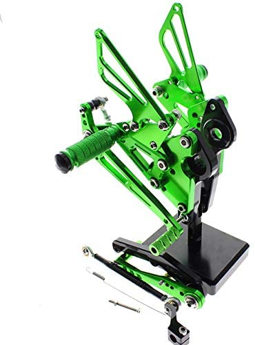 Frames & Fittings CNC Aluminum Adjustable Rearsets Foot Pegs for Yamaha FZ MT 09 MT-09 FZ-09 2013 2014 2015 2016 2017 2018 - (Color: Green)