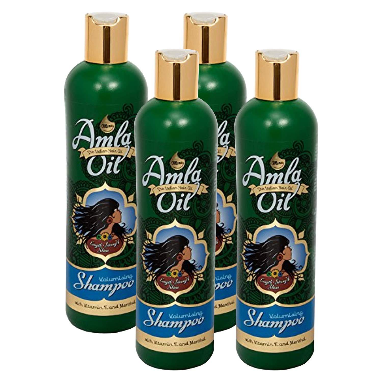 Mera Amla Indian Hair Oil Moisturizing Shampoo with Vit E & Menthol (11.8oz) Pack of 4