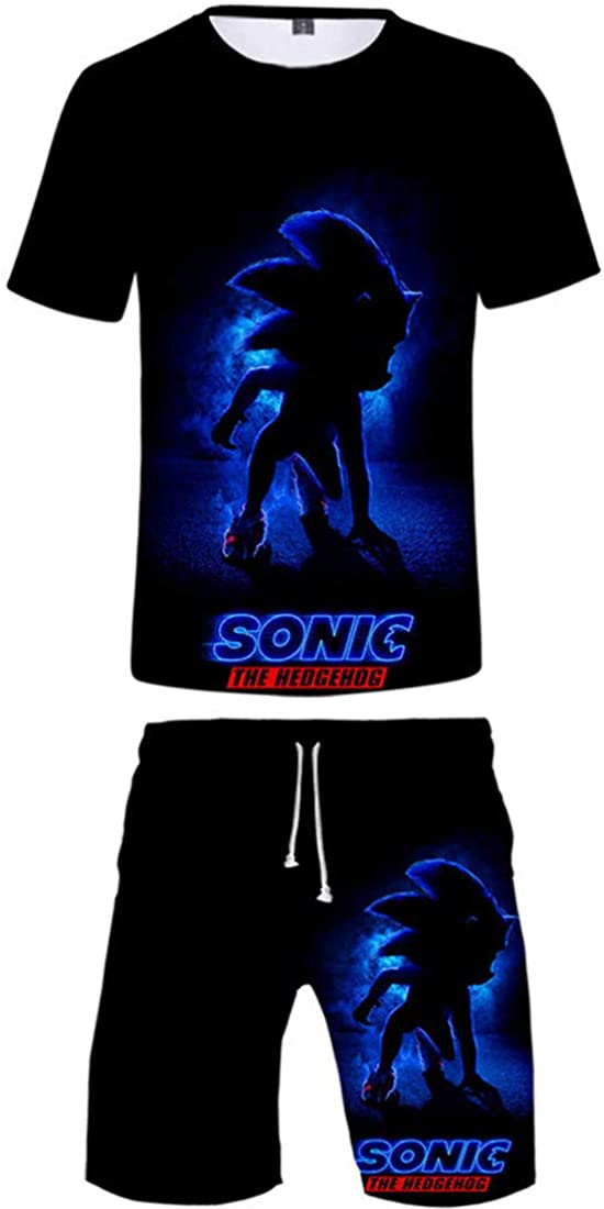 Takyojin Kids Sonic The Hedgehog T-Shirt and Shorts Set Cotton Tee for Boys and Girls