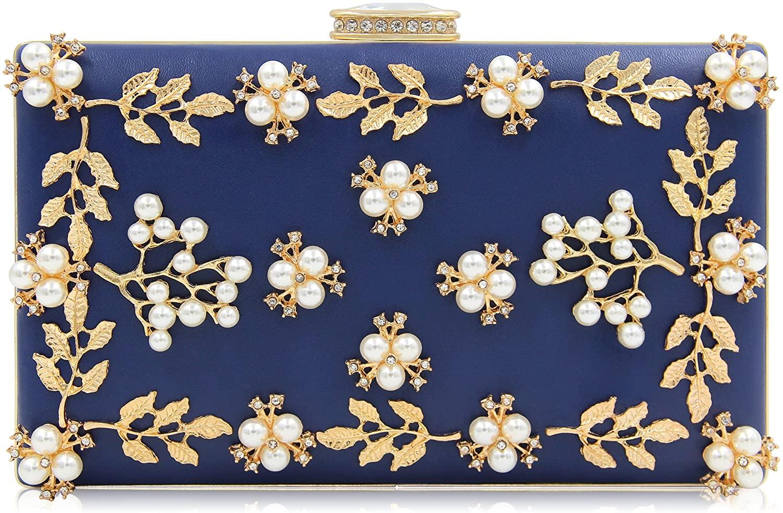 Milisente Women Clutches Pearls Evening Bag Clutch Purse Bags