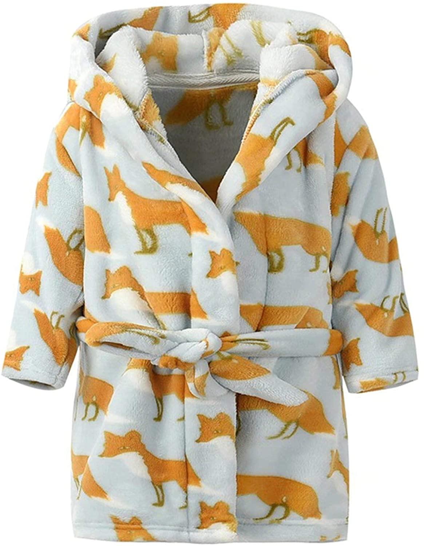 Umeyda Kids' & Toddler Soft Flannel Bathrobes, 1 Year - 12 Years