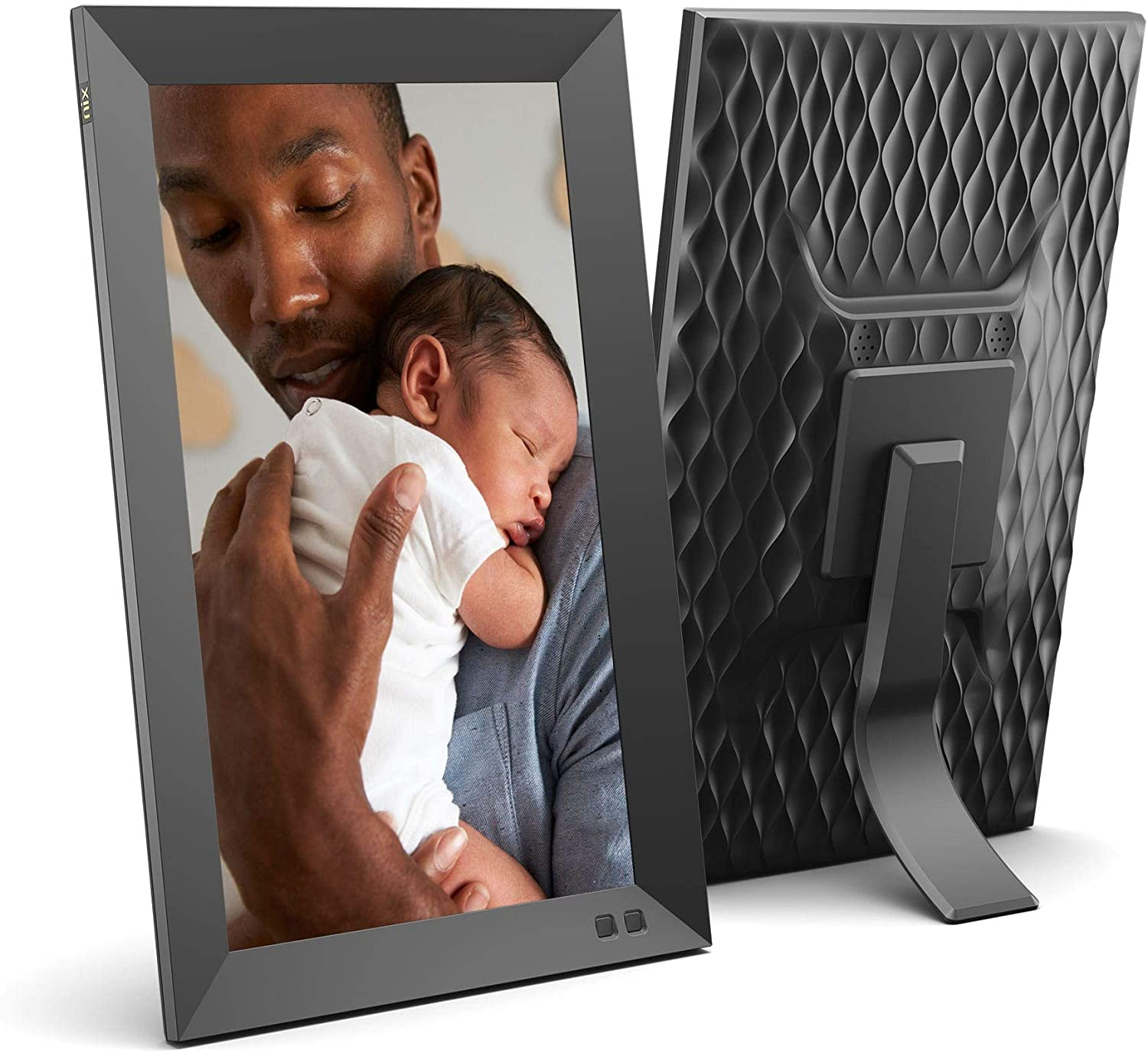 NIX 13.3 Inch Digital Picture Frame - Portrait or Landscape Stand, Full HD Resolution, Auto-Rotate, Remote Control - Mix Photos and Videos in The Same Slideshow