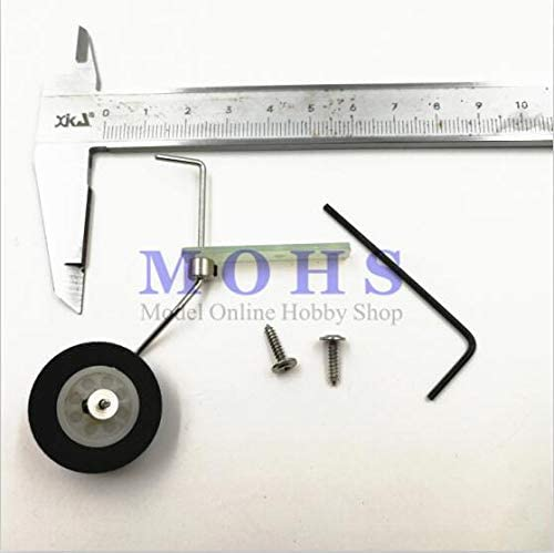 Vehicles-OCS 25~40class 35~50class Steering Tail Wheel Combo Fiber Glass Bracket + Wheel + Steering System Aircraft Tail Wheel - (Color: Small)