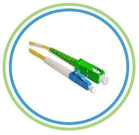 FiberShack 10M / 32.8ft - SC/APC to LC - Single Mode - Simplex - Fiber Optic Patch Cable