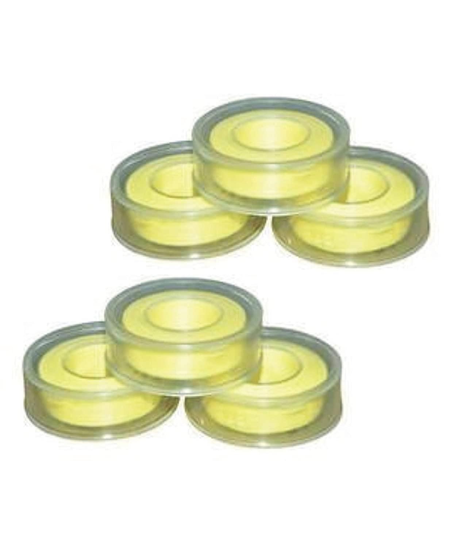 Teflon Tape (Yellow) 12mm x 10 Meter for Pipe Fittings, Plumbing, Aquarium,Washing Machine,Water Tap,Ro Tap to fix Water Leak (Pack of 6 PCS) from NOZOMI