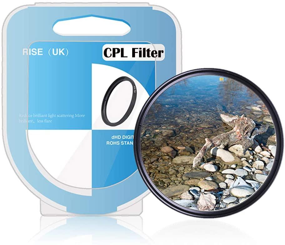 Rise(UK) Circular Polarizing CPL Lens Filter for DSR Camera Lens (72mm)