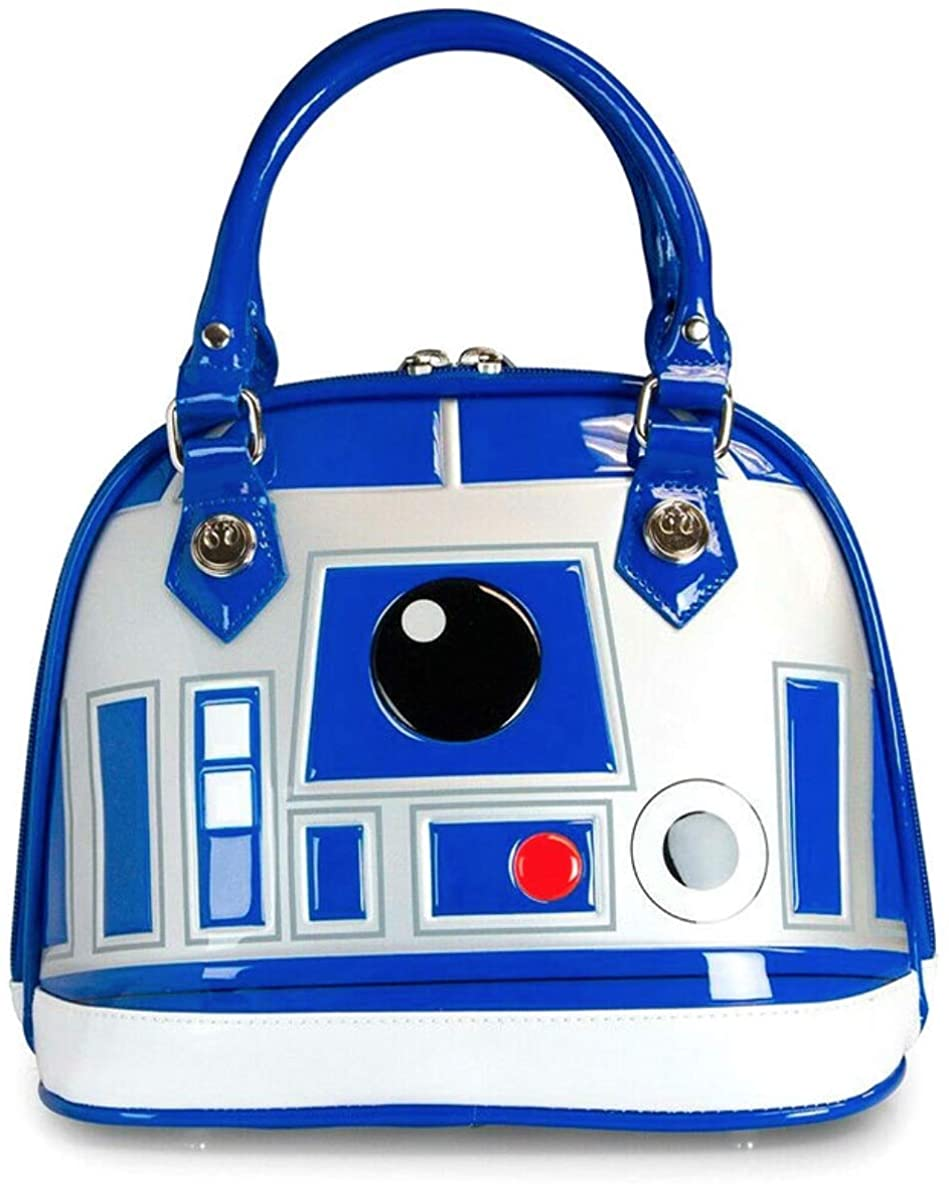 Loungefly x Star Wars - R2-D2 Droid Design - Top Handle Handbag Purse - Faux Leather