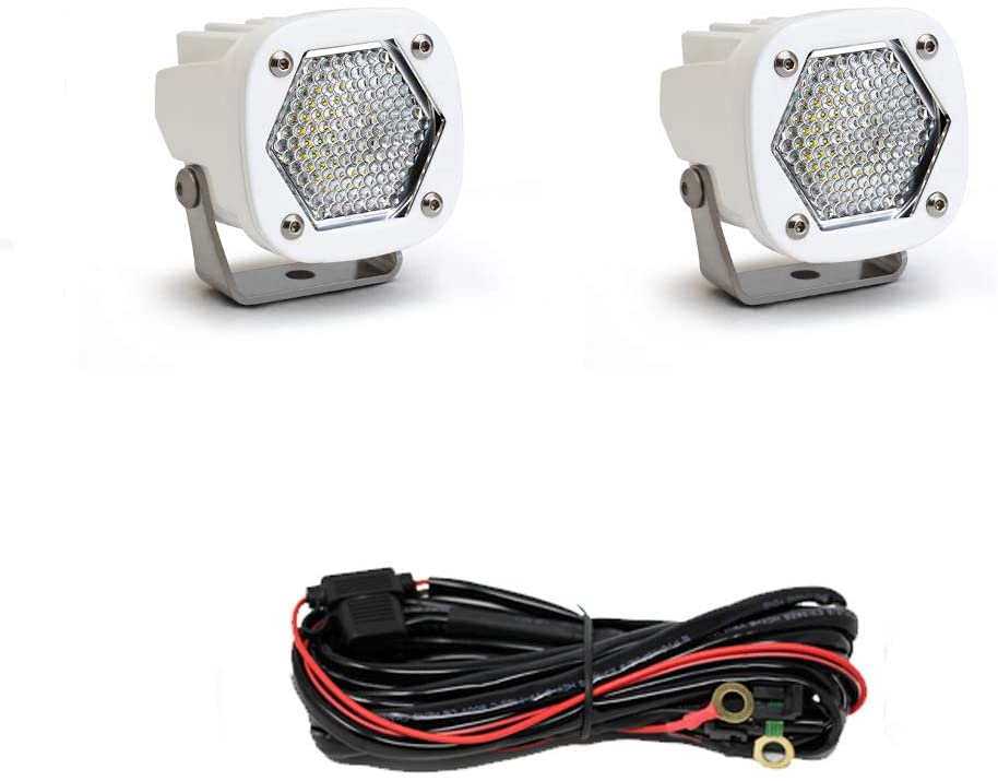 Baja Designs Pair S1 Work/Scene LED Light White