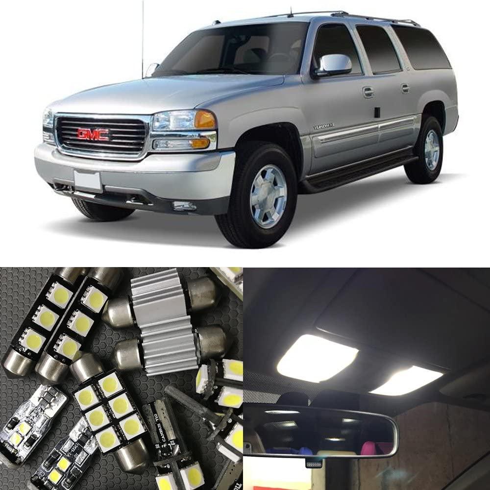 NSLUMO 10Pcs Auto Interior LED Lights Bulb Kit No Error For 2000-2006 GMC Yukon XL 1500 Map Dome License Plate Light Car light Source (2000-2006 GMC Yukon XL 1500)