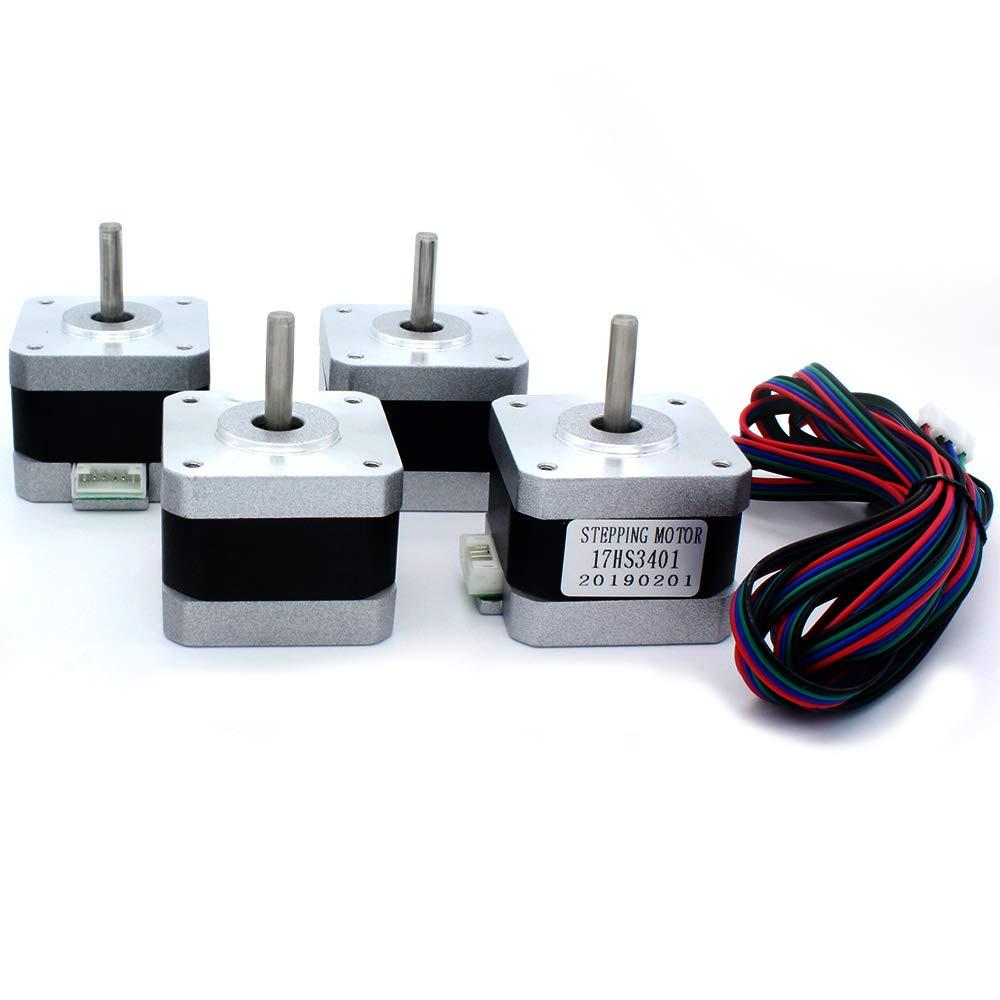 (Pack of 4pcs) NEMA17 Stepper Motor High Torque Bipolar DC Step Motor Kit by MOTOU