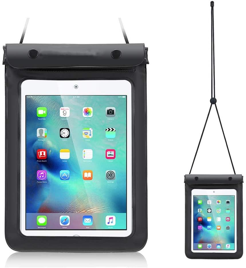 Universal Waterproof Tablet Case Dry Bag Pouch for 7-8 Inch iPad Mini 4/3 / 2, Samsung Galaxy Tab 4/3, Tab S2, Tab E, Tab A 8.0, Galaxy Kids Tab E Lite 7, LG G Pad III 8.0, Asus Google Nexus 7