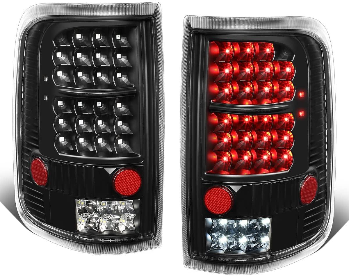 DNA Motoring TL-F15004-LED-BK-CL Black Full LED Tail Light/Lamp (For 04-08 Ford F150/Lobo, Pair), 1 Pack