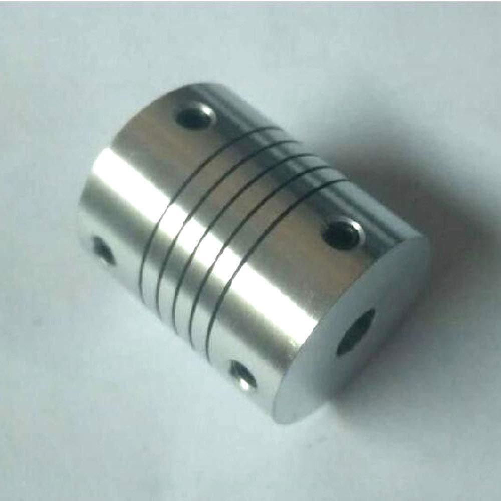 2pcs DR 6.35mm x 6.35mm Elastic Coupling Thread Winding Wire Coupling Encoder Coupler D25 L30