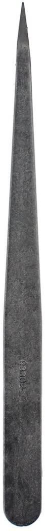 Mobile Phone JF-S12 Anti-Static Carbon Fiber Straight Tip Tweezers(Black) (Color : Black)