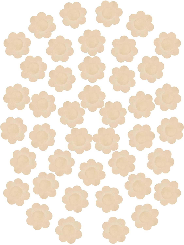 100 Pairs Nipple Covers Breast Pasties Petals Self-Adhesive Disposable Bras