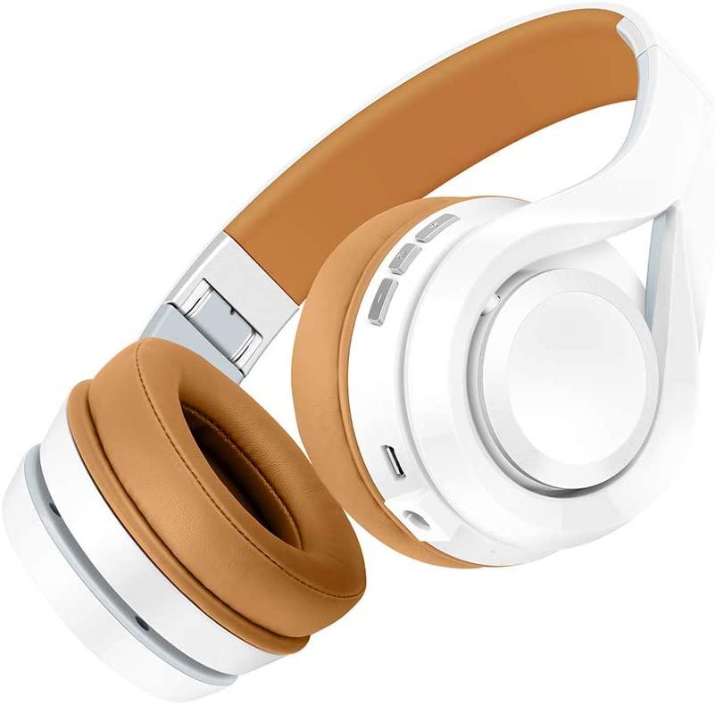 XIAOLIANG Bluetooth Headphones,Wireless Bluetooth Headphones Noise Cancelling Music Headphones,for Sports Games Music Outdoor Indoor,Orange