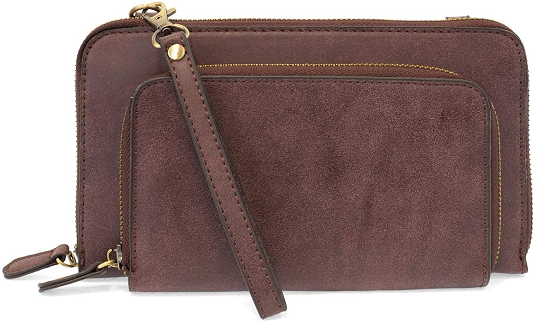 Joy Susan Women's Brushed Mini Convertible Zip Wristlet Bag