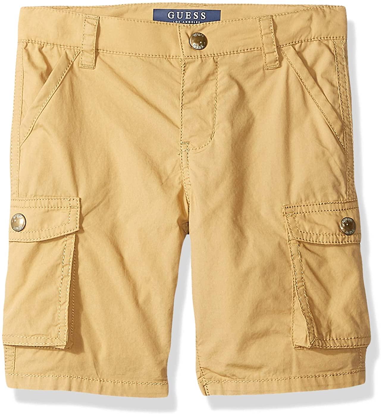 GUESS Boys' Little Cargo Shorts, Honey Pie, 5