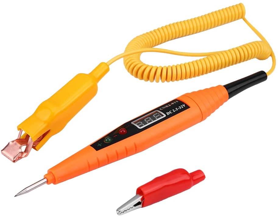 Automotive Circuit Tester, Car Circuit Tester, 2.5-32V Car Digital Circuit Tester Pencil Electrical Diagnostic Tool, Power Probe Voltage Test,Car Circuit Diagnostic Tool