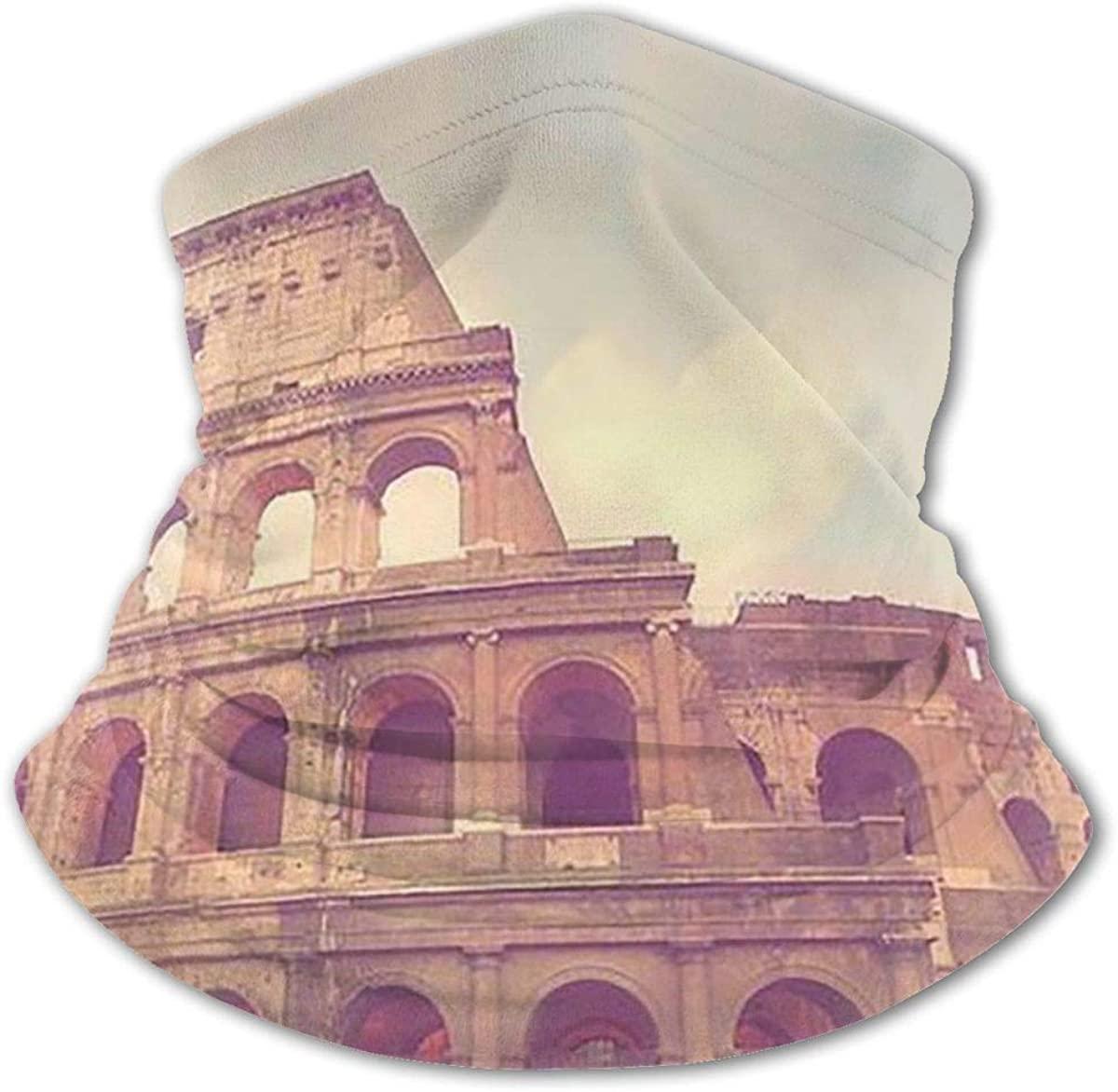 Roman Colosseum Headwear For Girls And Boys, Head Wrap, Neck Gaiter, Headband, Tenn Fishing Mask, Magic Scarf, Tube Mask, Face Bandana Mask For Camping Running Cycling