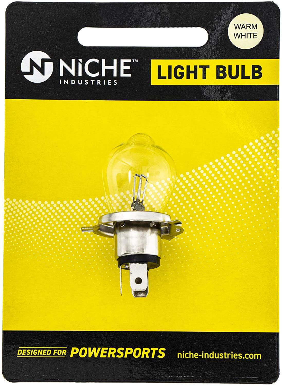 NICHE Headlight Bulb High Low Beam For 1976-1995 Yamaha Bravo Ovation SnoScoot SRX440 Excel III Snomobiles