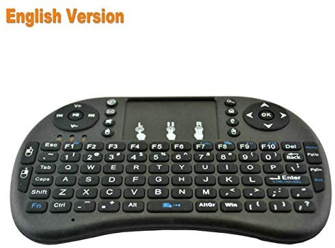 Calvas i8 2.4G Wireless Air Mouse English Russian mini Keyboard touchpad remote control for Android Smart TV box PC etc. - (Color: English Version)
