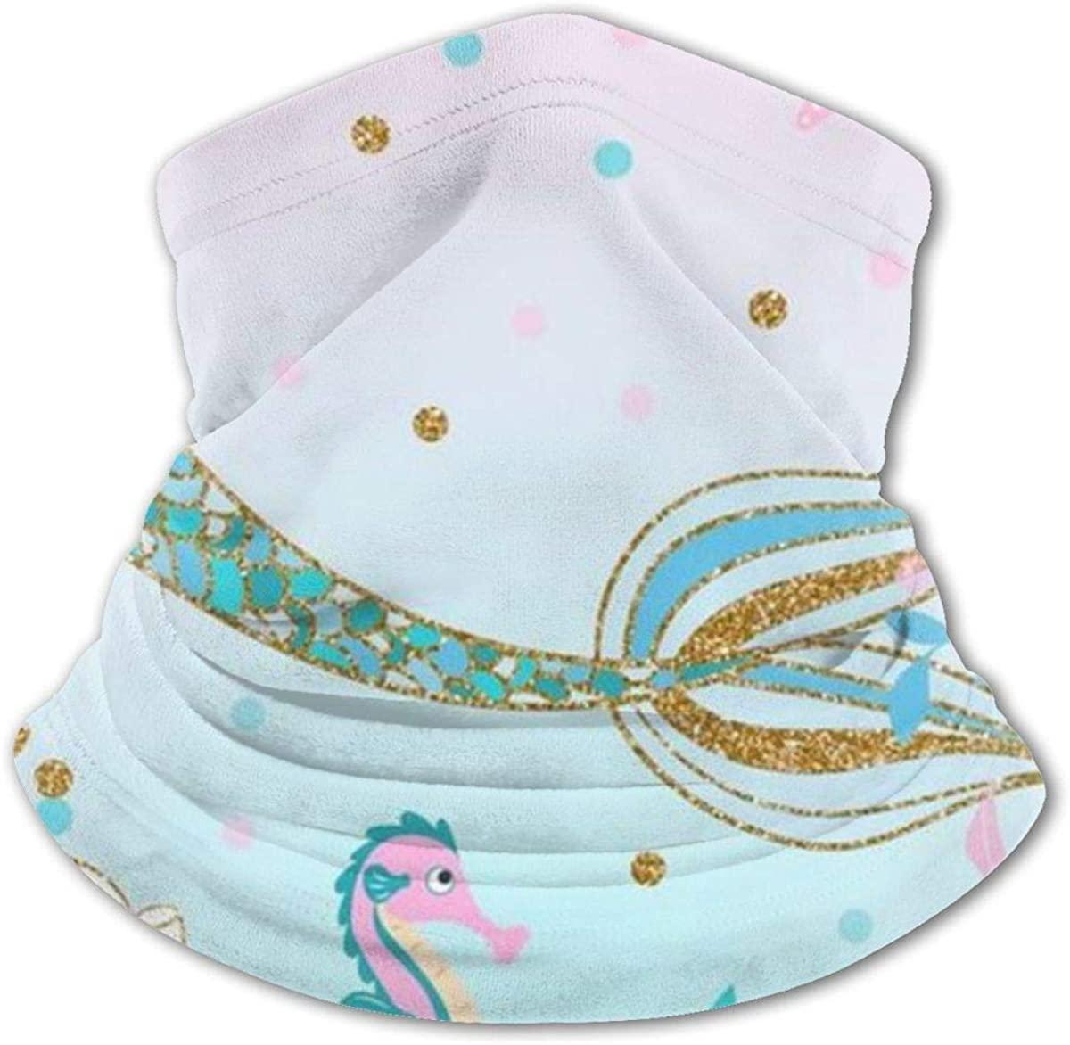 Mermaid Tail Headwear For Girls And Boys, Head Wrap, Neck Gaiter, Headband, Tenn Fishing Mask, Magic Scarf, Tube Mask, Face Bandana Mask For Camping Running Cycling