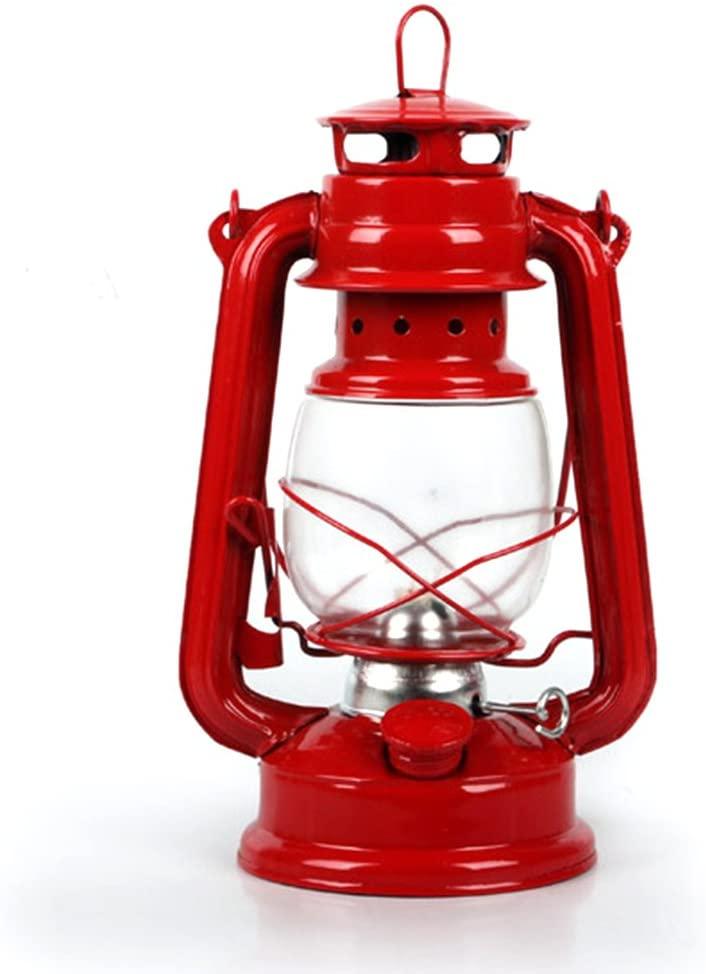Super PP Portable Lanterns Kerosene Lamp Metal Iron Camping Kerosene Lamp Photo Props ( Size : NO3 )