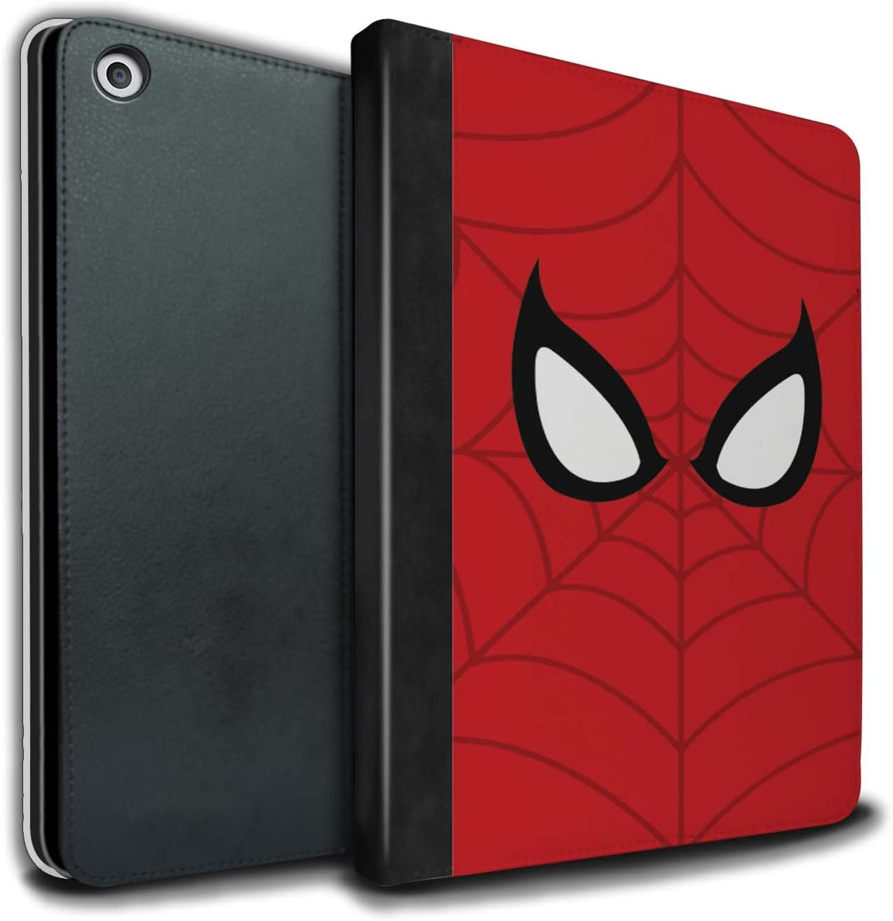 Tablet Case for Apple iPad 9.7 (2017) Super Hero Comic Art Spider-Man Mask Inspired Design Flip Faux Book PU Leather Cover