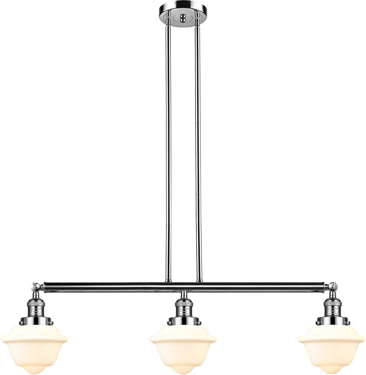 Innovations 213-PN-S-G531-LED 3 Vintage Dimmable LED Adjustable Island Light, Polished Nickel