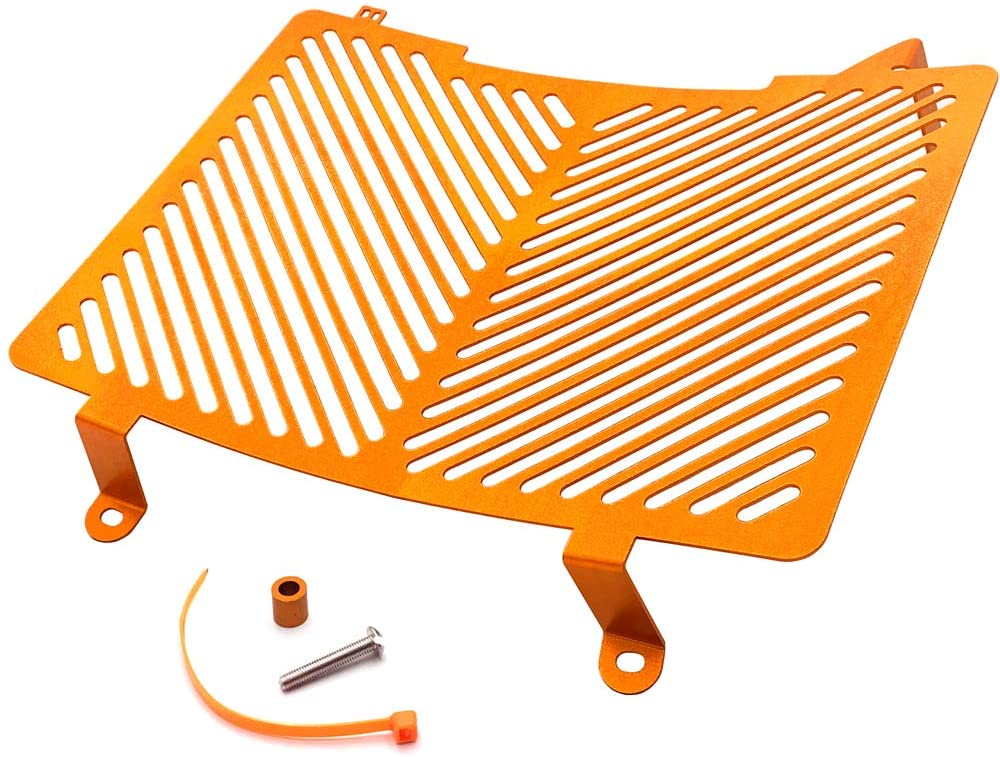 HTTMT- US-GZSP-K7-003-ORG- Aluminum Radiator Guard Grille Protector Cover Orange Compatible With KTM DUKE 790 18-19 TZ Orange