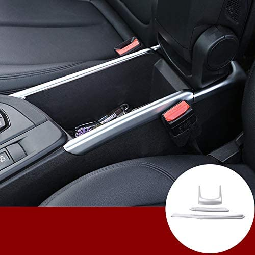 Wroadavee Inner Center Console Armrest Box Frame Cover Trim 3pcs for BMW X1 F48 2016-2020