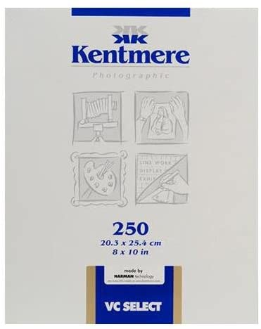 Kentmere VC Select, Variable Contrast Medium Weight RC Fine Lustre Paper, 8x10, 250 Sheets