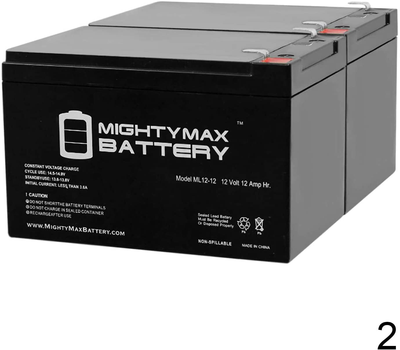 Mighty Max Battery 12V 12AH Battery for ShopRider EZ Chopper Model # S8M - 2 Pack Brand Product