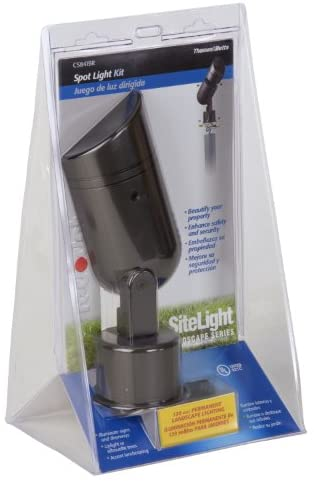 Thomas & Betts CS841BR Red Dot Sitelight Ground Spot Light with 13-by-2-Inch Schedule 40 PVC Mounting Tube, Bronze Finish
