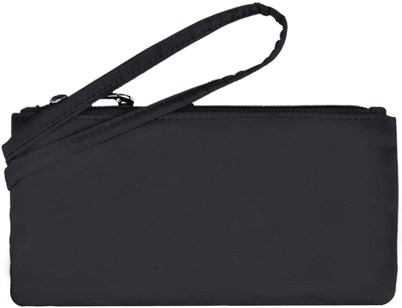 NOTAG RFID Blocking Wallet Nylon Wristlet Clutch HandbagsTravel Zip Purses Waterproof Small Pouch