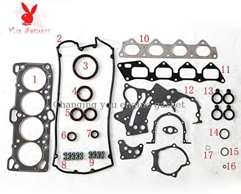 yise-P1017 New G4CR G4CN FOR HYUNDAI LANTRA I 1.6 OR MITSUBISHI LANCER 16V Engine Rebuilding Kits Full Engine Gasket Set 20910-33A10 50140200 DHL 5-9 days can be received