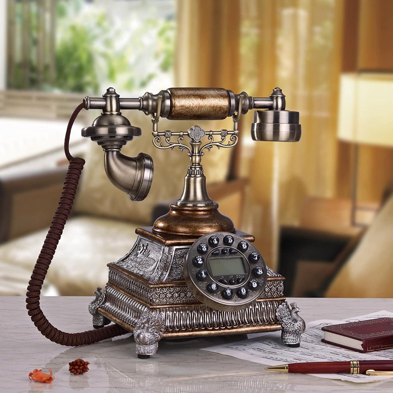 PST@ European retro antique telephone creative fashion/home decor/antique, corded telephone