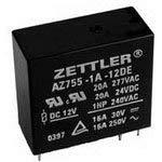 AZ755-1C-24DE, 20AMP Mini Power Relay 24VDC Coil SPDT (10 Items)
