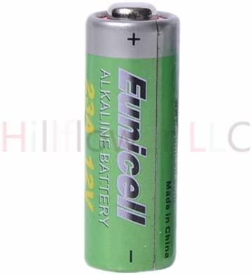 Hillflower 5 Piece 23A A23 MN21 GP23 23 23AE Bulk 0% Mercury 0% Hg 12V Alkaline Battery