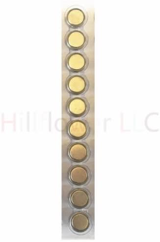 Hillflower 200 Piece AG10 LR1130 389A LR54 G10 Bulk 0% Hg 1.5V Long Duration Alkaline New Battery